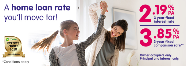 A woman spins around a young girl in their new living room. Check out our 3 year fixed rate home loan.