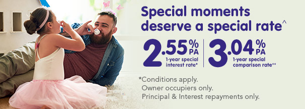 1 year Classic Home loan Special Rate, 2.80% pa, 3.29% pa comparison